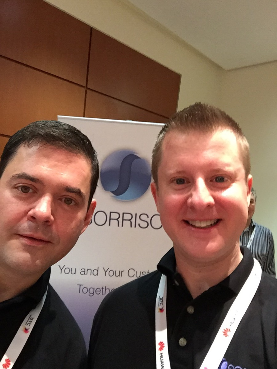 Eric & Glenn posted up at our sponsor stand at the CEM in Telcos Global Summit event
